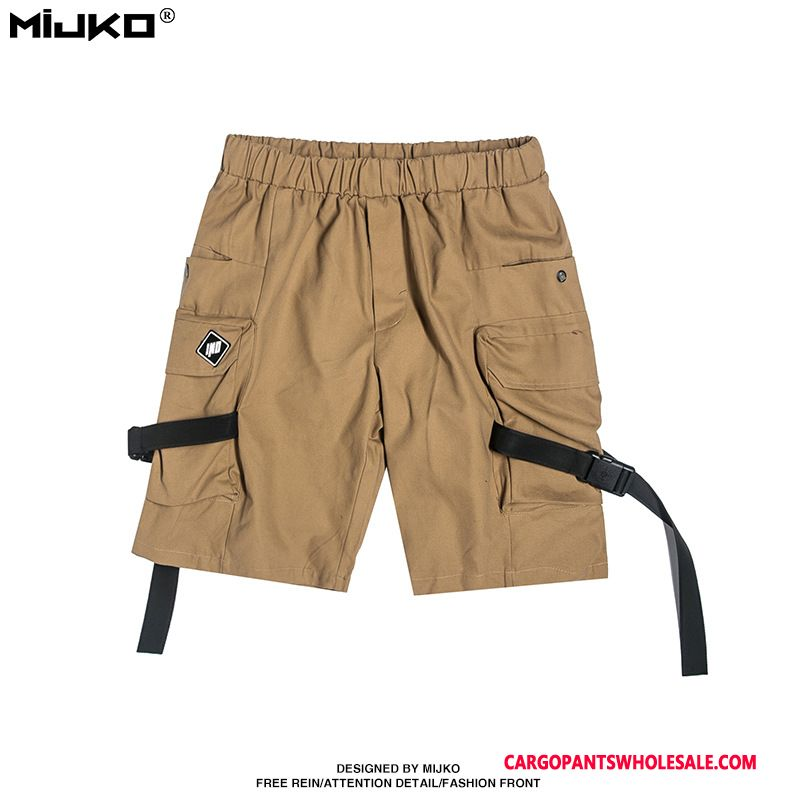 Cargo Shorts Men Khaki Casual Pants High Summer Tide Brand Big Pocket