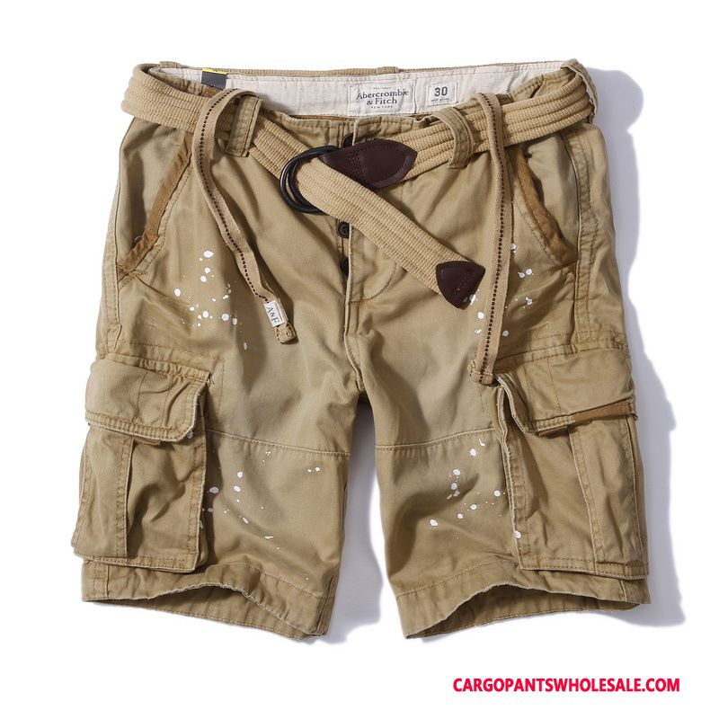 Cargo Shorts Men Khaki Distressed Shorts Classic Cargo The New