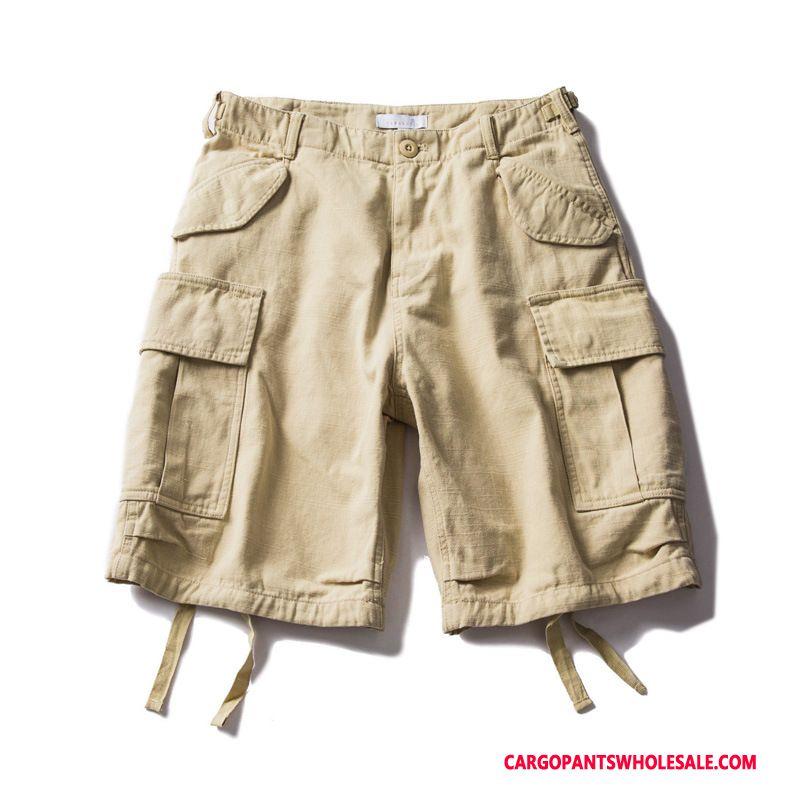 Cargo Shorts Herre Khaki Cyan Vask Trend Brede Cargo Bukser Unge