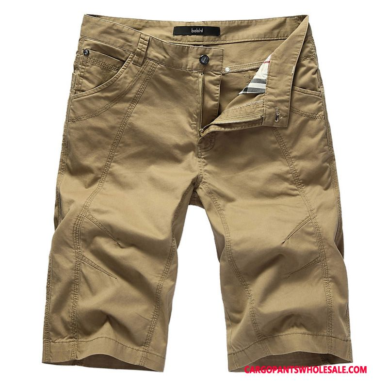Cargo Shorts Herre Khaki Casual Bukser Cargo Bukser Bomuld Store Størrelser Fede