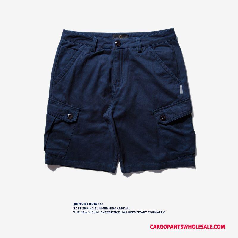 Cargo Shorts Men Khaki Shorts Multiple Pockets Tide Summer Casual Pants
