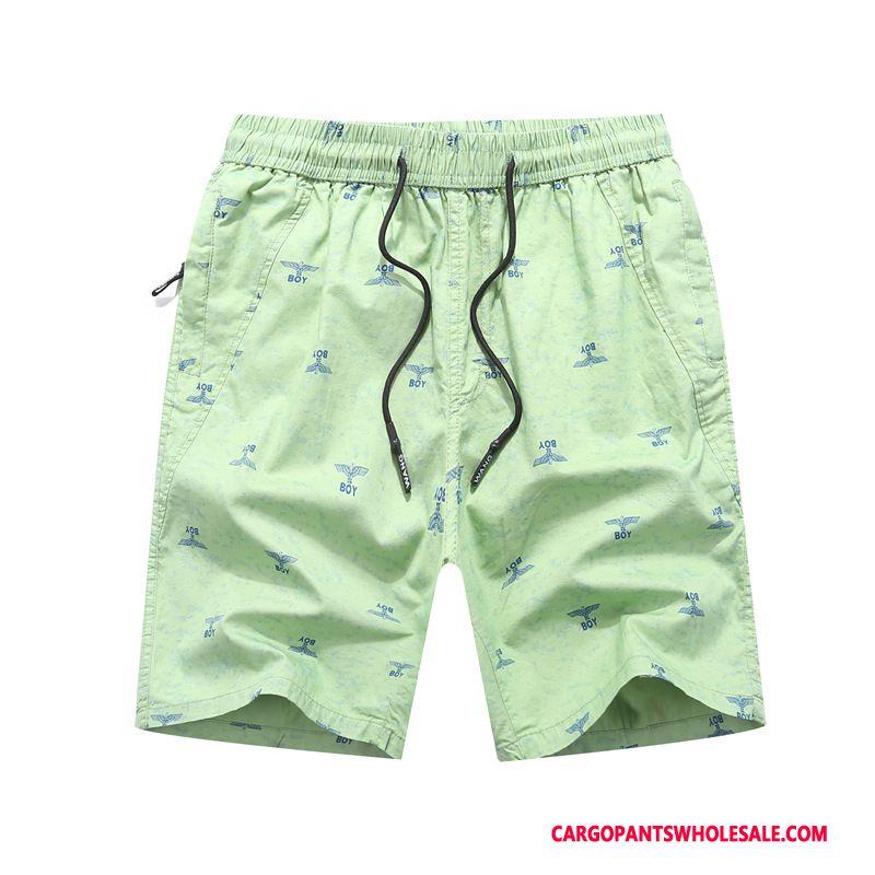 Cargo Shorts Men Red Tide Pants Motion Large Size Summer
