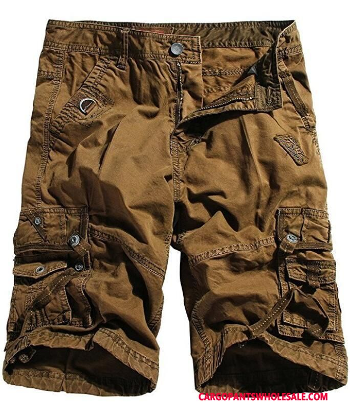 Cargo Shorts Herre Gul Bomuld Fritids Cargo Shorts Trend