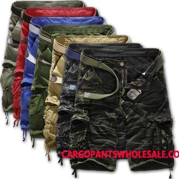 Cargo Shorts Herre Camouflage Brede Flere Lommer Mellem Bukser Fritids