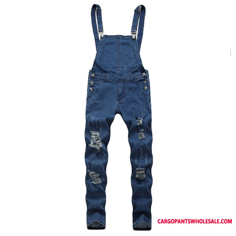 Bib Pants Male The New Pants Men Cowboy Jeans Rompers
