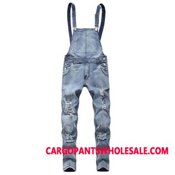 Bib Pants Male The New Pants Men Cowboy Jeans Rompers