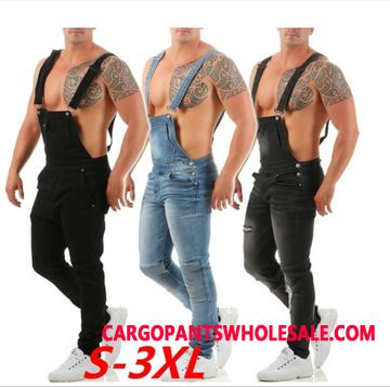 Bib Pants Men The New Slim Fit Trend Strap Jeans