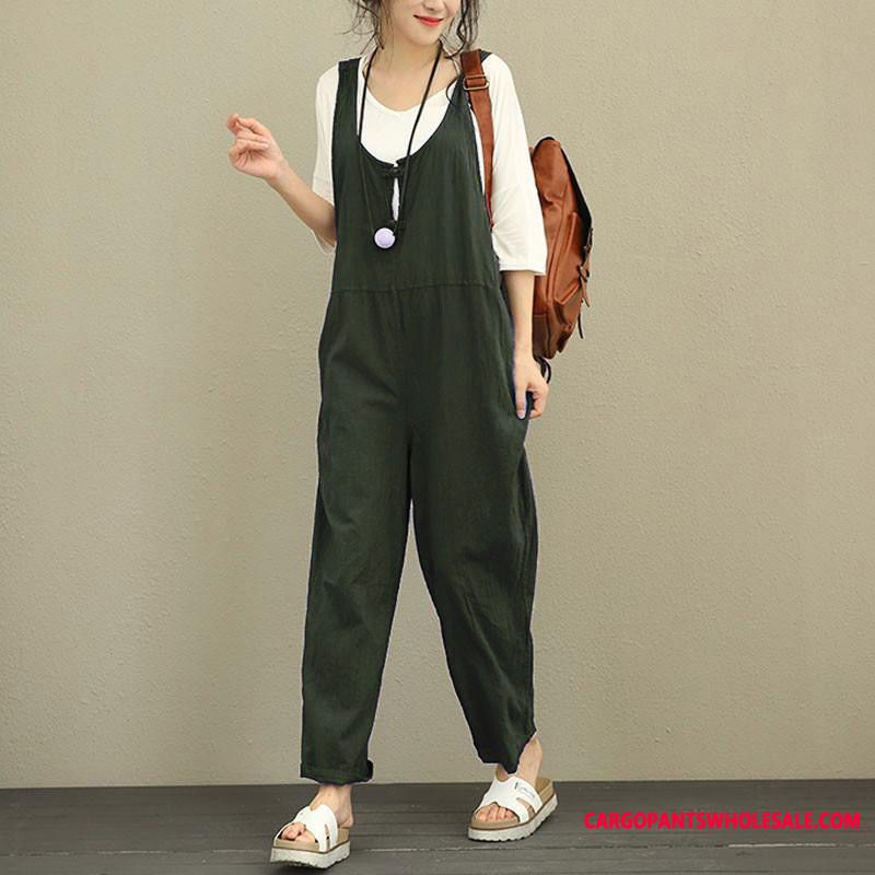 Bib Pants Women Casual Pants Trousers Large Size Loose The New