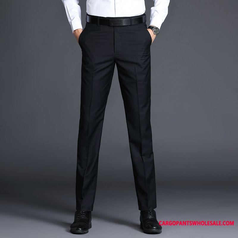 Dress Pants Male Black Business Leisure Men Career Formal Wear Suit