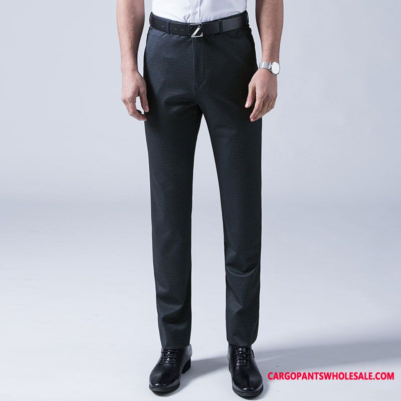 Dress Pants Male Go To Work Business Men Formal Wear Suit Career