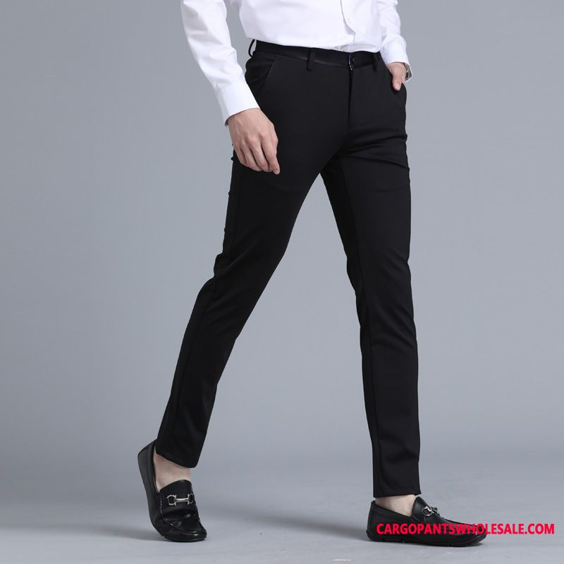 Dress Pants Male Green Slim Fit Spring Men Suit Pants Straight