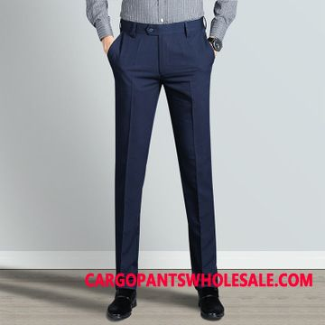 Dress Pants Male Green Trousers Leisure Men Slim Fit Straight Business