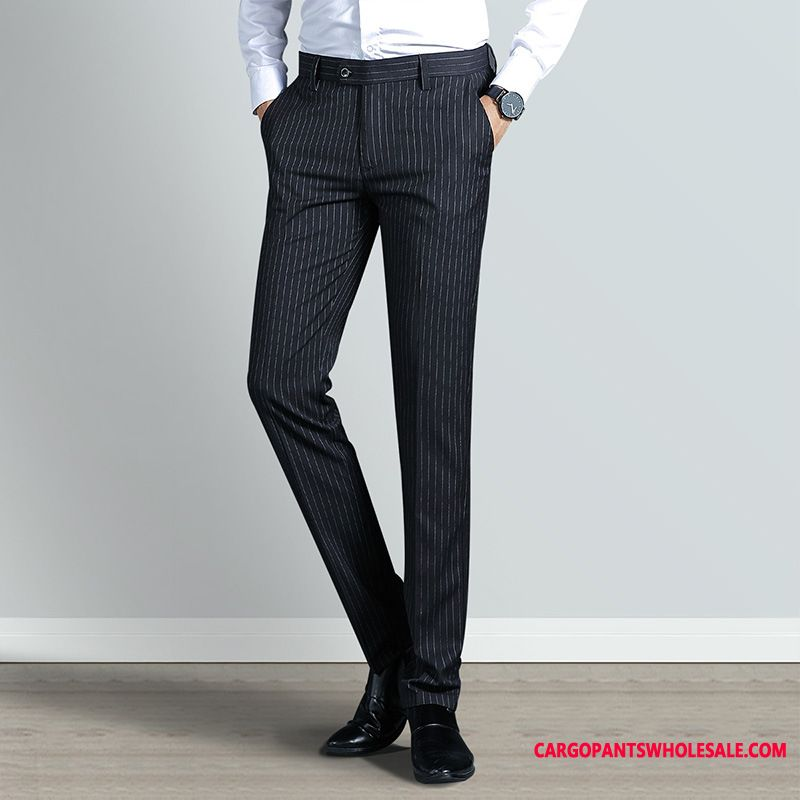 Dress Pants Male Pants Stripe Men Men Men Trousers Slim Fit The New