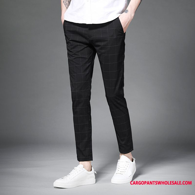 Dress Pants Male Slim Fit Spring Men Suit Small Pants