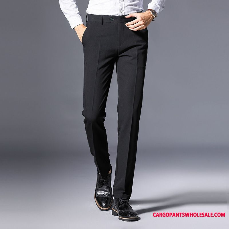 Dress Pants Male Slim Fit Suit Men Go To Work Pants Wrinkle Resistance