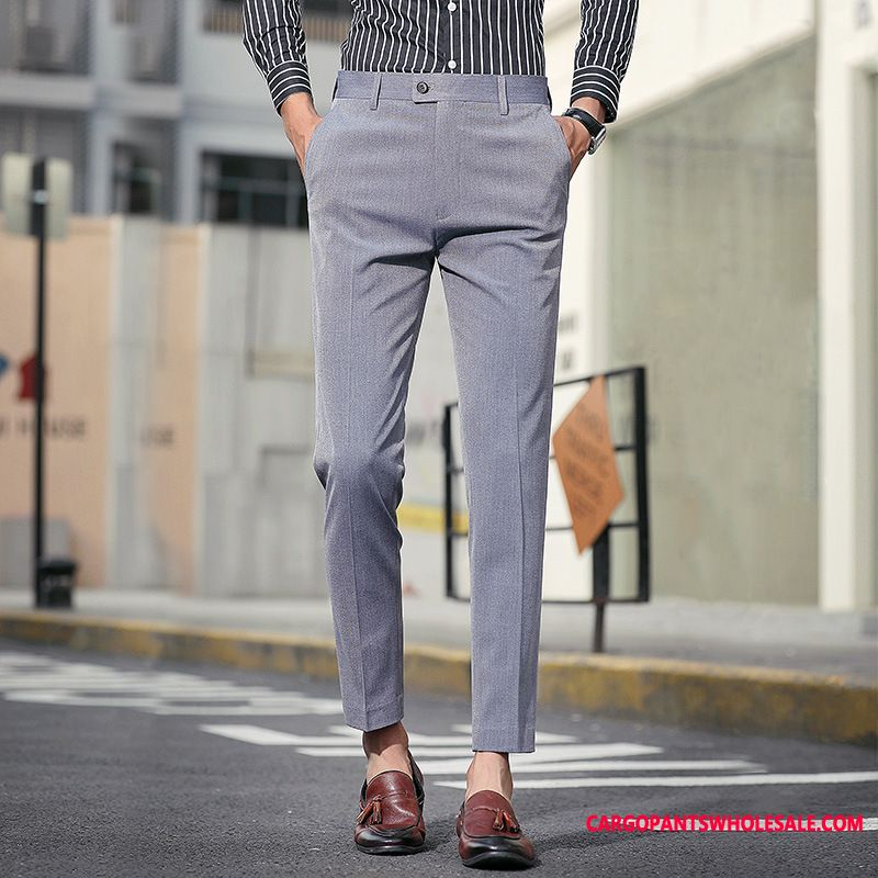 Dress Pants Male Trend Slim Fit Men Pants All Match Small