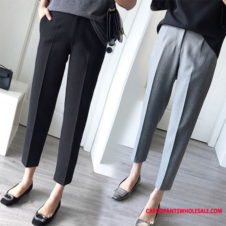 Dress Pants Women Small Student Straight Loose Leisure