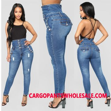 Jeans Female Explosion Stretch Pants Women Jeans Straight High Waist