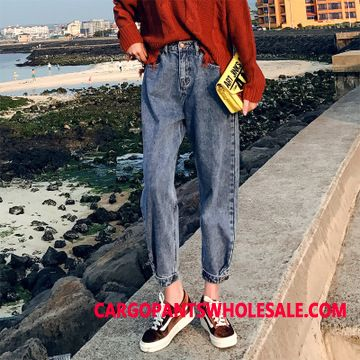 Jeans Female Red Spring Jeans Women Pants