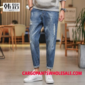 Jeans Men Pants Casual Pants The New Washed Jeans
