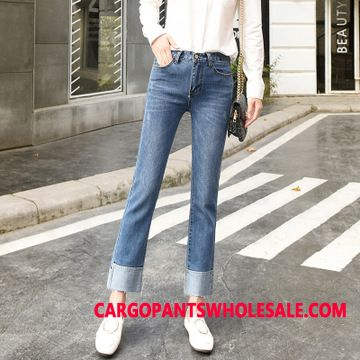 Jeans Women Blue Slim Loose Pants Straight The New