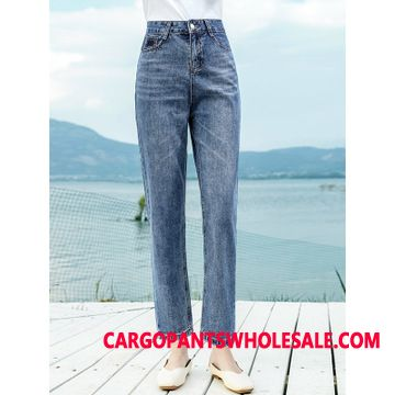 Jeans Women Deep All Match City Brand The New Straight