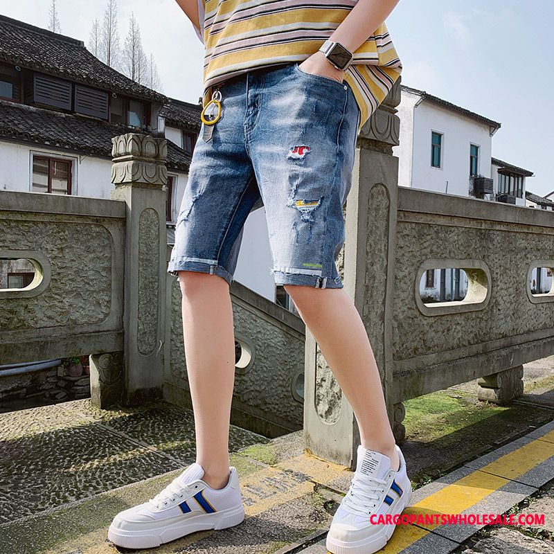 Shorts Male Casual Pants Shorts Men Cowboy Loose Trend