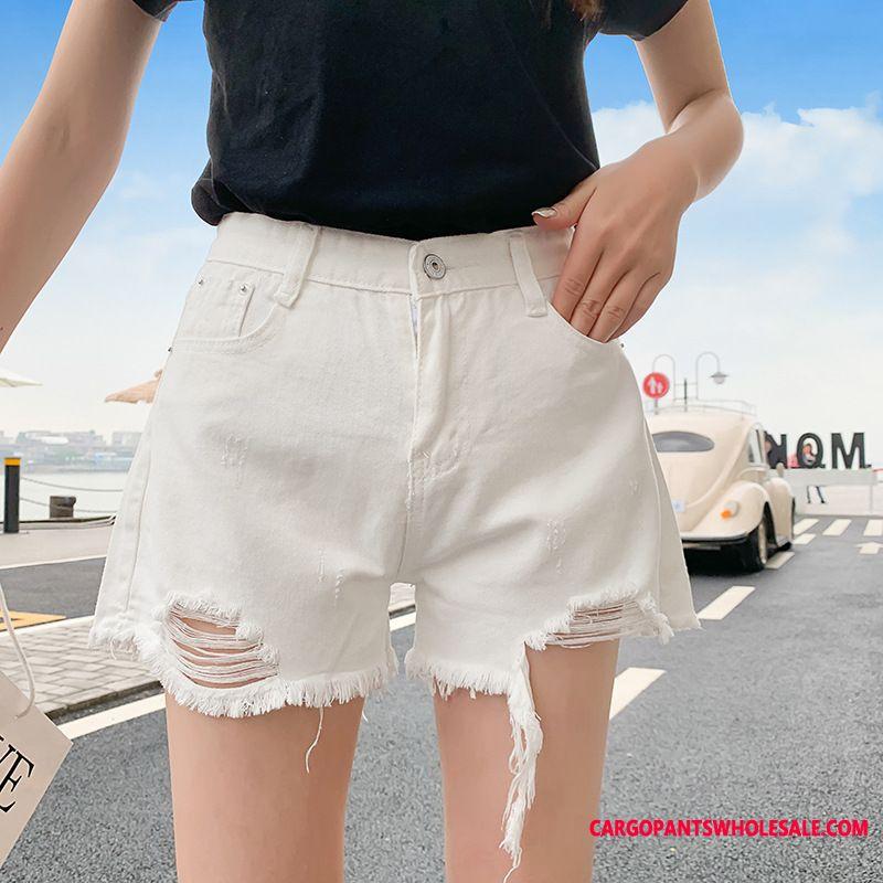 Shorts Women White Black High Waist Summer Super Cowboy Shorts