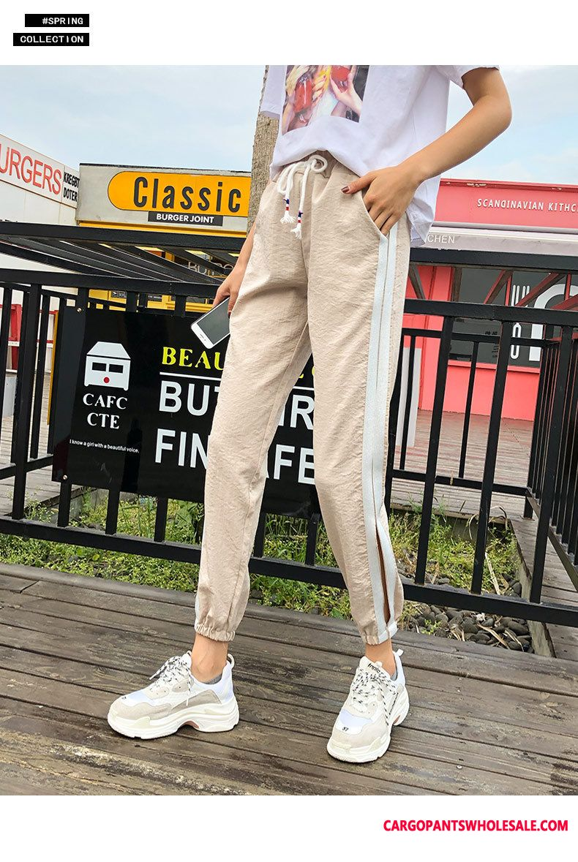 Sweatpants Women High Waist Pants Creative Loose Harlan