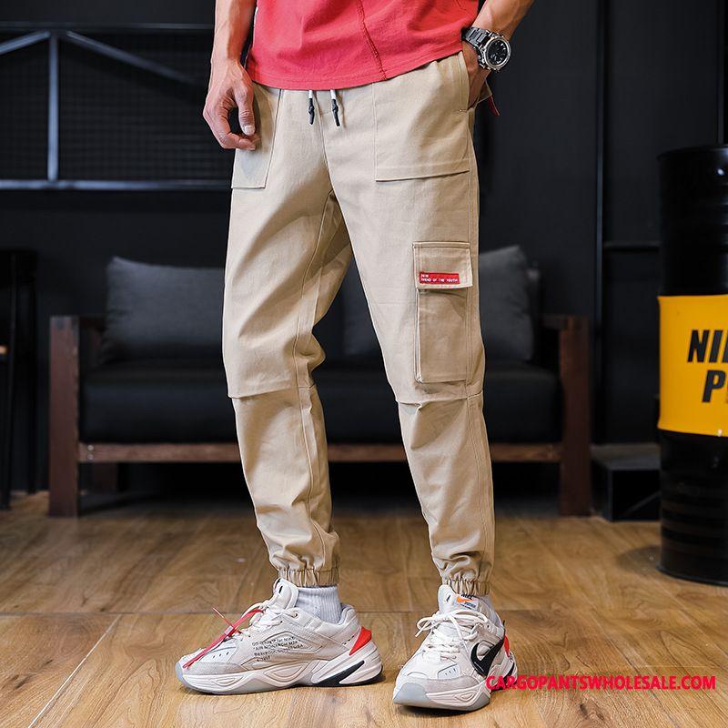 Pantalon Cargo Homme Été Multi-poche Homme Pure Pantalons Harlan