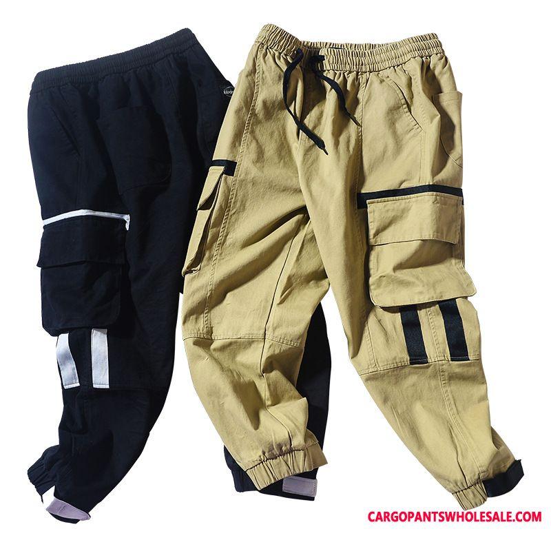 Cargo Pants Men Summer Fashion Leisure Loose Velcro