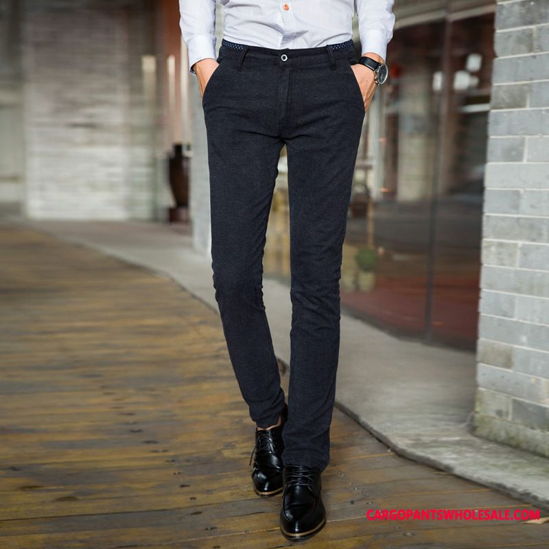 Dress Pants Men Slim Fit Go To Work Straight Casual Pants Business