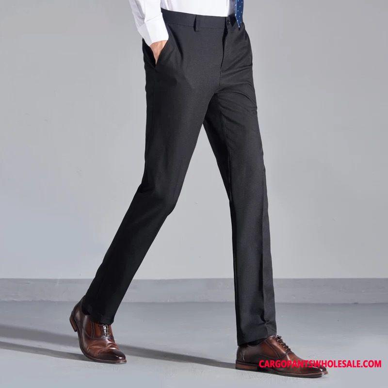 Dress Pants Male Black Green Large Size Slim Fit Men Men Boutique Career The New