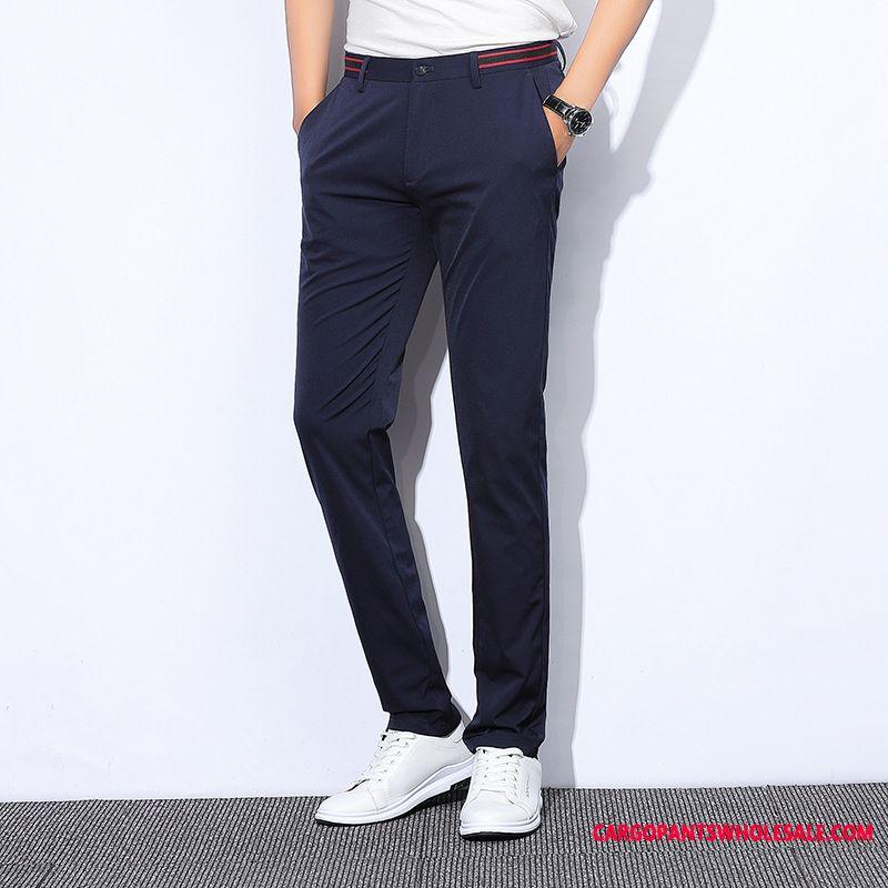 Dress Pants Male Green Slim Fit Business Men Pants Summer Trousers