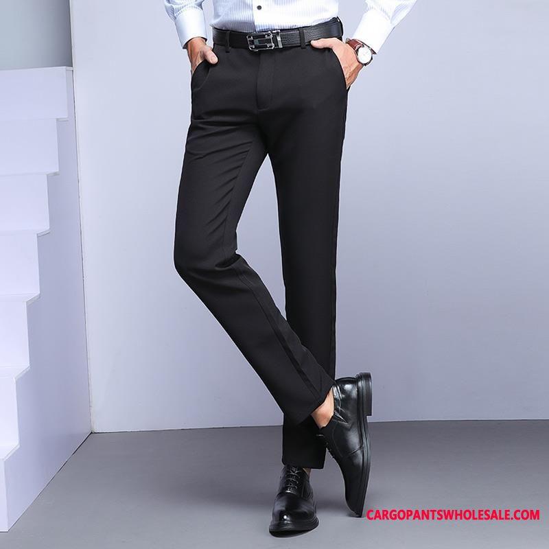 Dress Pants Men City Suit Business Formal Wear Fashion