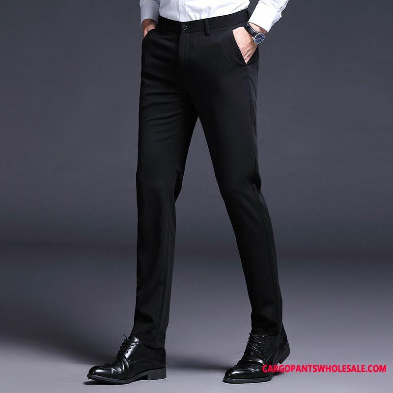 Dress Pants Men Green Autumn Straight Multi-pocket Trousers Comfortable