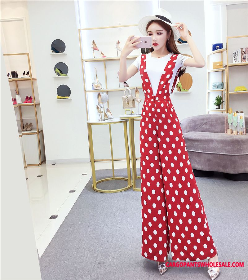 Bib Pants Women Ladies The New Leisure Two-piece Suit Summer