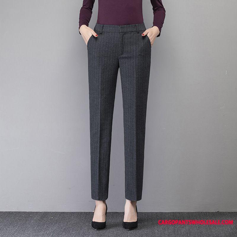 Dress Pants Women The New Autumn Straight Winter Stripe