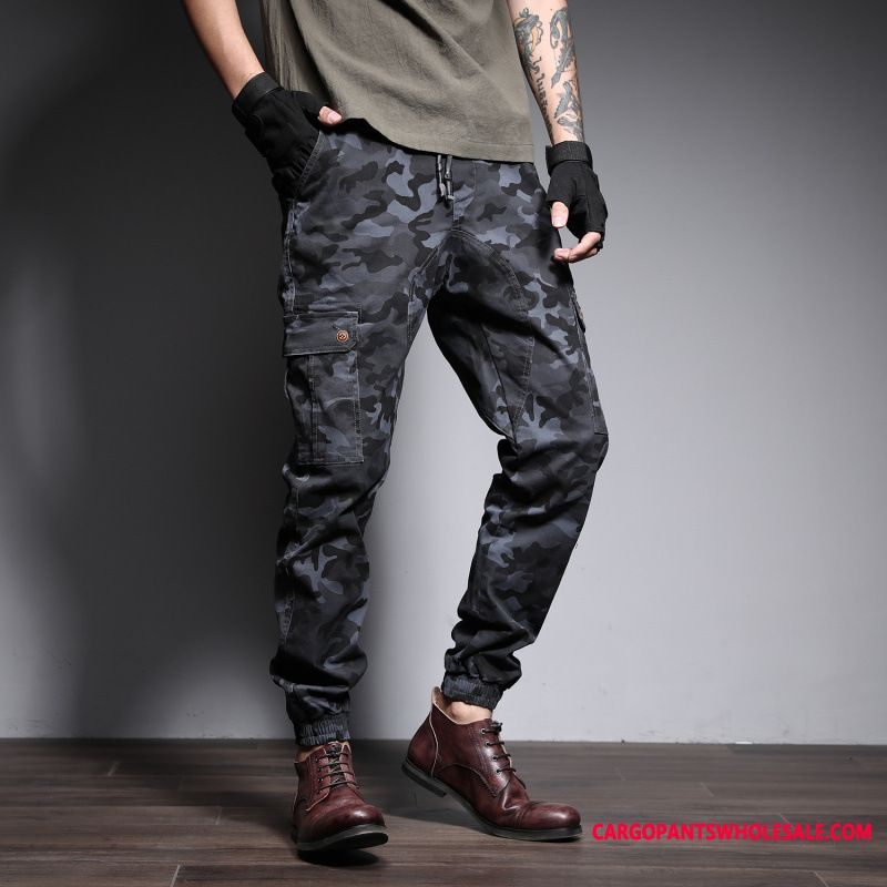 Cargo Pants Male Camouflage Large Size Summer Men Europe Beam Foot Trousers