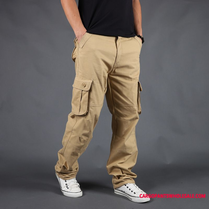 Cargo Pants Male Casual Pants Large Size Cotton Thick Section Trousers