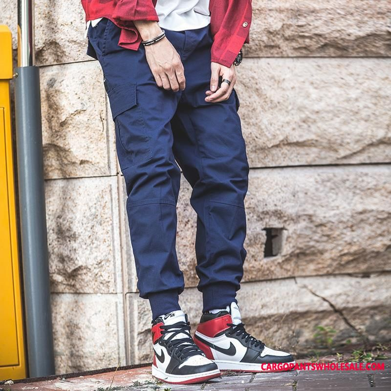 Cargo Pants Male Green Casual Pants Tide Brand Men Cargo Fashion The New
