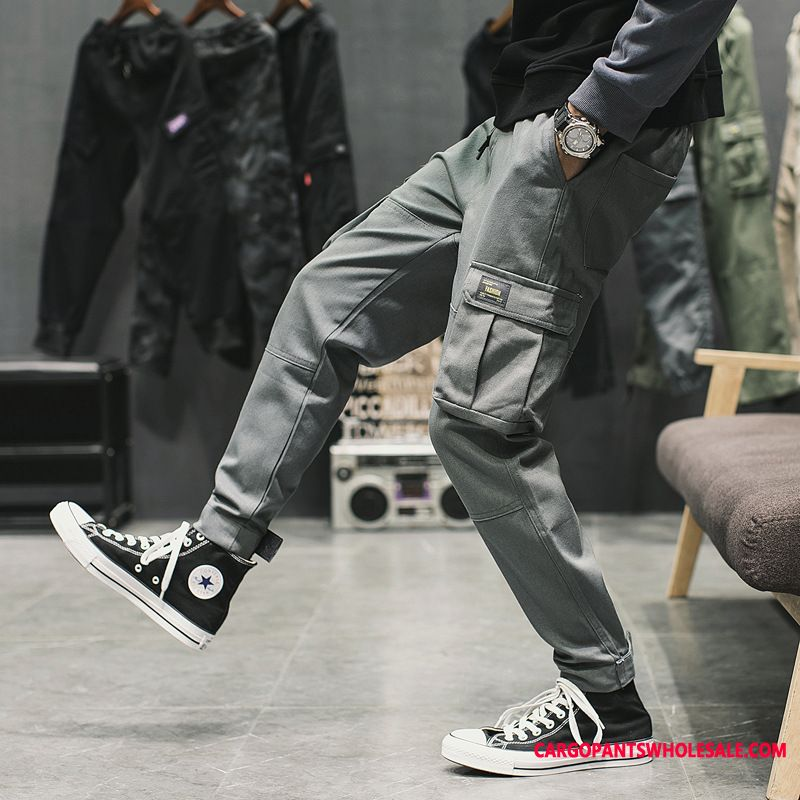 Cargo Pants Male Trend Fashion Men Casual Pants All Match Tide