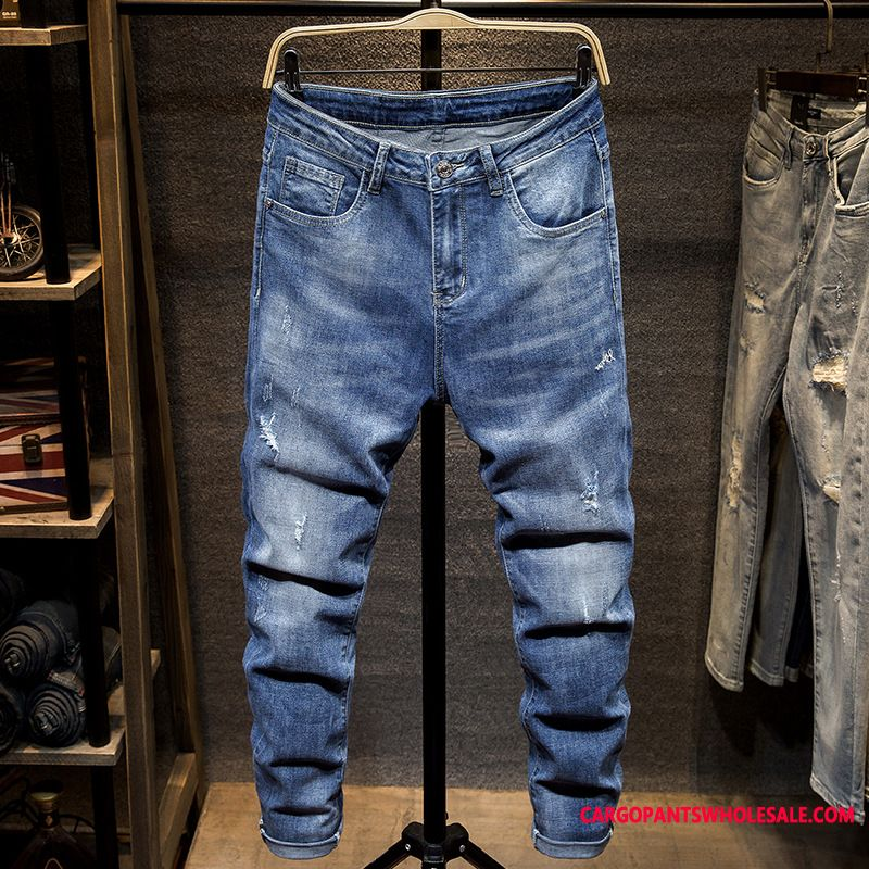 Jeans Male All Match High End Men Jeans Fashion Casual Pants
