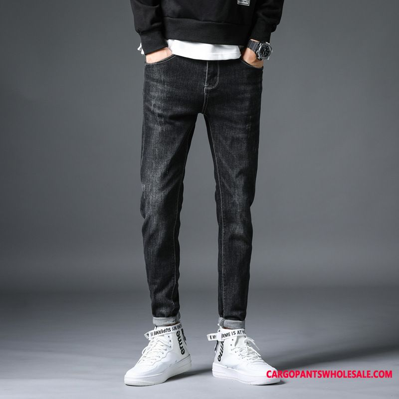 Jeans Male Trend Leisure Men Jeans Solid Color Cool