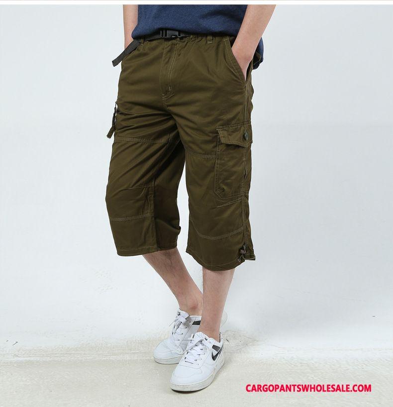Capri Pants Male Army Green Plus Size Cargo Pants Men Men Leisure Summer Loose