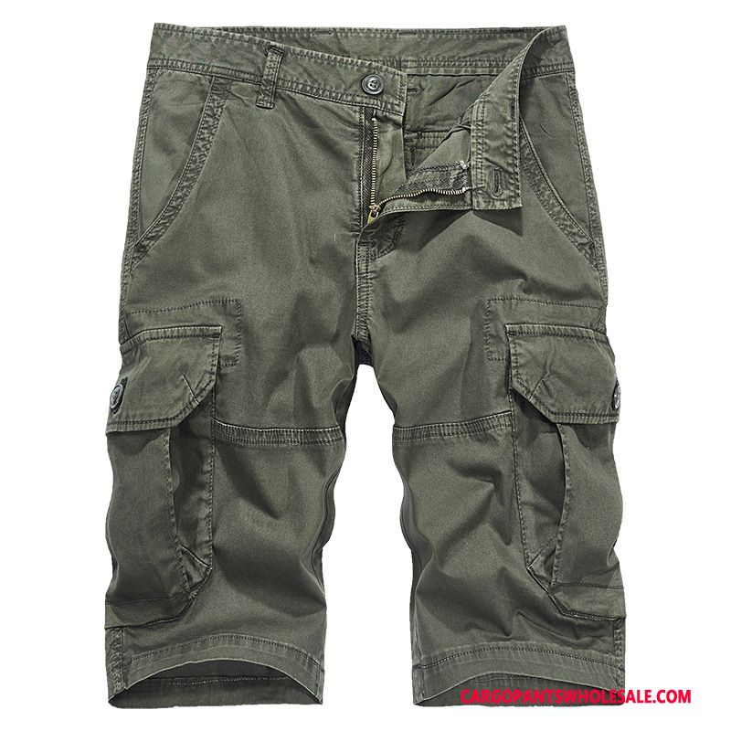 Capri Pants Male Army Green Selling Outdoor Men Cotton Washed Casual Pants