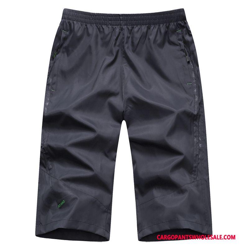 Capri Pants Male Black Summer Shorts Men Plus Size Pants Cargo Pants
