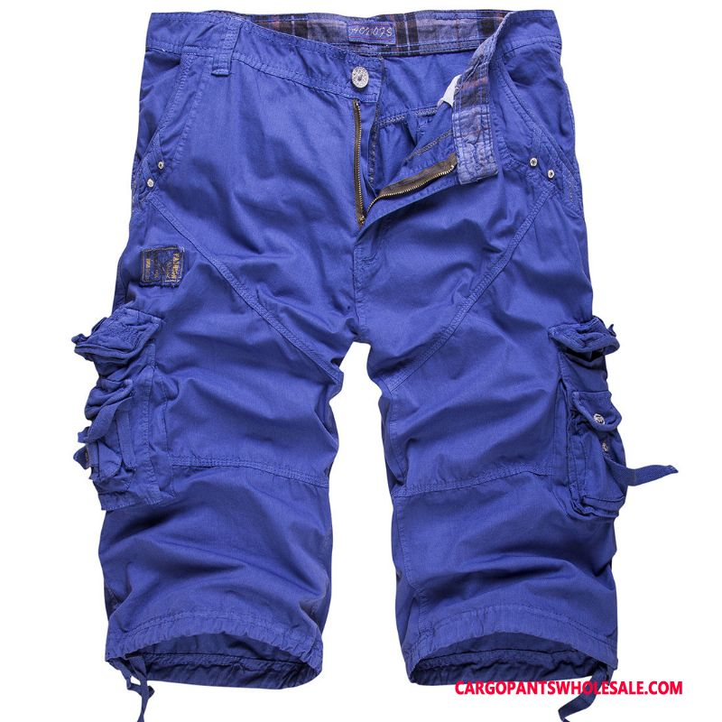 Capri Pants Male Blue Green Handsome Trend Men Leisure The New Large Size