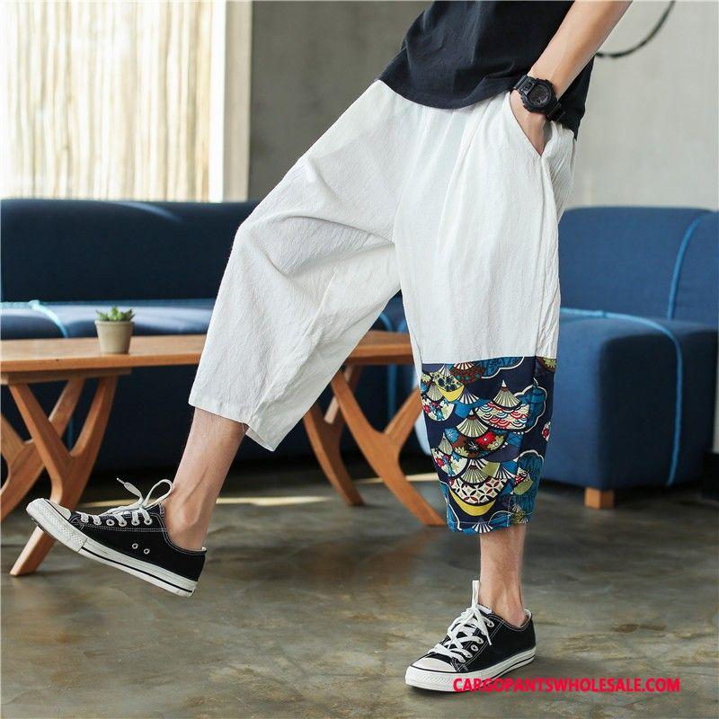Capri Pants Male White Capri Pants Leisure Men Summer Shorts Trend