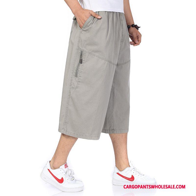 Capri Pants Man Pants Summer Male Capri Pants Shorts Fat